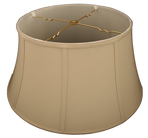(Royal Designs Shallow Drum Bell Billiotte Lamp Shade, Beige, 13 x 19 x 11.25 (BS-711-19BG))