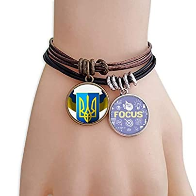 master DIY Ukraine National Emblem Country Bracelet Rope Wristband Force Handcrafted Jewelry Estimated Price -