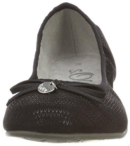 s.Oliver Women's 22106 Ballet Flats Black (Black Struct.) 1pObDzDY