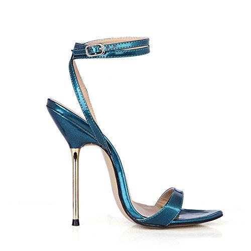 le fer de femmes la nocturne Blue haut avec Afficher sandales vie avec banquet de talon de chaussures fines 8znnqAPwx