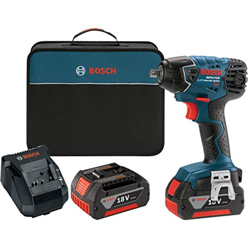 Bosch IWH181-01 18-Volt Lithium-Ion 3 8-Inch Square Drive Compact Impact Wrench Kit with 2 Batteries, Charger and Case
