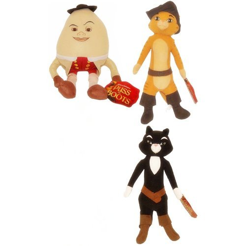 Puss in Boots Movie 15'' Plush 3 Pcs Set by Dreamwork