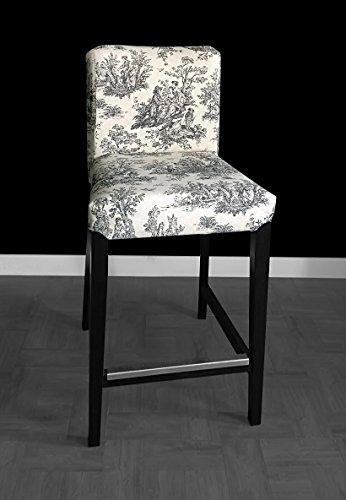 Colonial Bar (IKEA Henriksdal Bar stool Cover - Colonial Black)