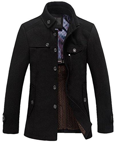 25897cec3c Jual Youhan Men s Fitted Overcoat Cashmere Pea Coat - Wool   Blends ...