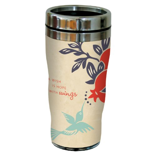 Tree-Free Greetings 77482 Contemporary Sky High Art Sip 'N Go Travel Tumbler, 16-Ounce, Multicolored
