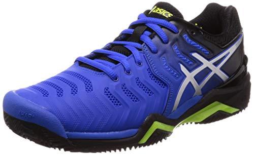 Da resolution Scarpe 7 Asics Tennis argent Gel Bleu Flash Uomo Clay wxIS5x6nqX