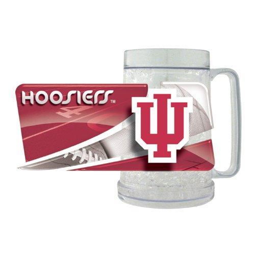 NCAA Indiana Hoosiers FreezerMug Hunter Blue Clock
