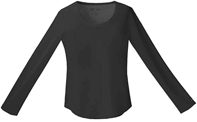 906df73915e Dickies Medical Scrubs 82910 Women's Jr Fit Long Sleeve Crew Neck Tee Black  X-Small