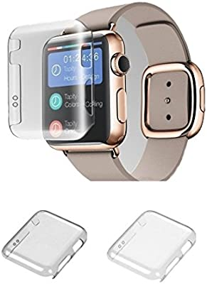 Apple Watch Series 2 38mm Case Monoy New Design Slim Clear Cover PC Hard Screen Protector For IWatch