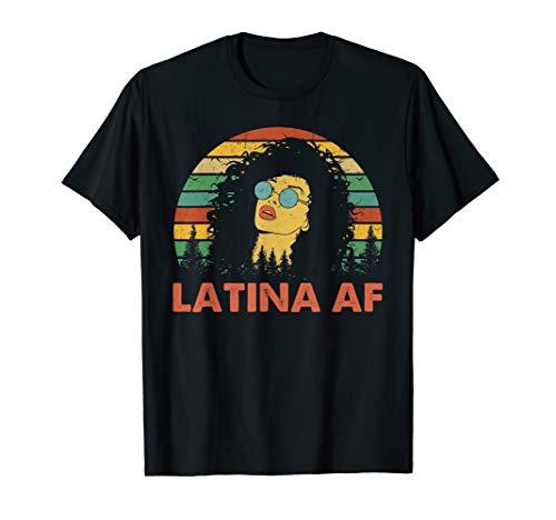 Latina AF Vintage Retro Shirt, Latinas Gift for Latino Women T-Shirt