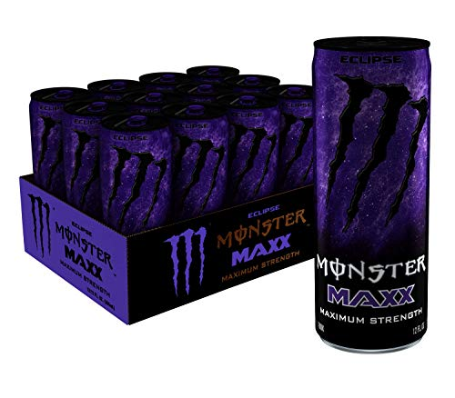 MAXX Monster Eclipse, Maximum Strength, Energy Drink, 12 ounce (Pack of 12)