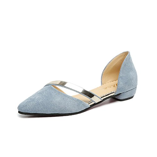 Flat Blue Mouth Women Faux Women On 8 Shoes Kenavinca Flat Women Fashion New Suede Flat Shoes Trend 5 Sky Slip Sequins Shinning Shoes Shoes Shallow BwBO7qx