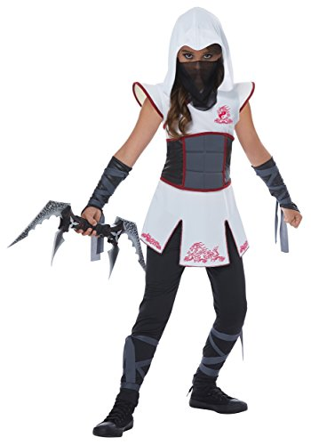 Ninja Girl Costume For Women (Fearless White Ninja Girl Kids Costume)