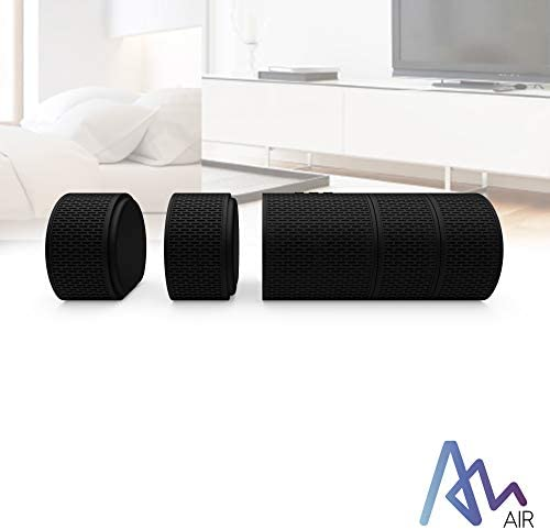 Air Audio The Worlds First Pull-Apart Wireless Bluetooth Speaker Portable Surround Sound and Multi-Room Use, Black 4194UxpcneL
