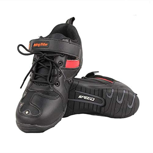 MRDEAR Motorradschuhe Sneaker Herren, Motocross Schuhe Sportschuhe Motorrad Schuhe Leichte Atmungsaktives Turnschuhe…