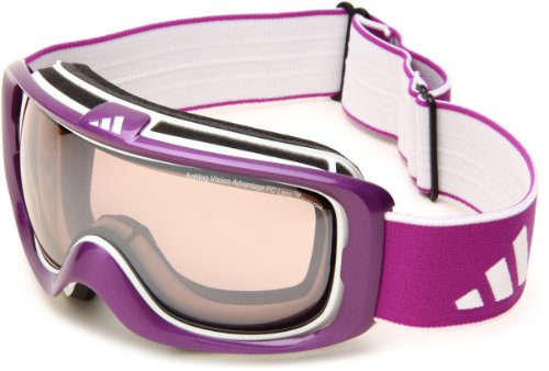 adidas Id2 Pure A182-50-6053 Shield Sunglasses,Shiny Purple Frame/LST Active Silver Light Lens,One Size