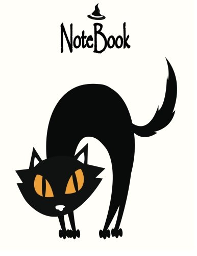 Notebook: Black Cat on yellow cover and Dot Graph Line Sketch pages, Extra large (8.5 x 11) inches, 110 pages, White paper, Sketch, Notebook journal (Black cat on yellow notebook) (Volume 1) -