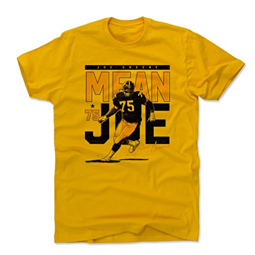 - 500 LEVEL Mean Joe Greene Cotton Shirt XXX-Large Gold - Vintage Pittsburgh Football Men's Apparel - Joe Greene Pass Rush Pittsburgh