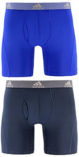 (adidas Men's Relaxed Performance Climalite Boxer Brief Underwear (2-Pack), Bold Blue/Urban Sky, Small)