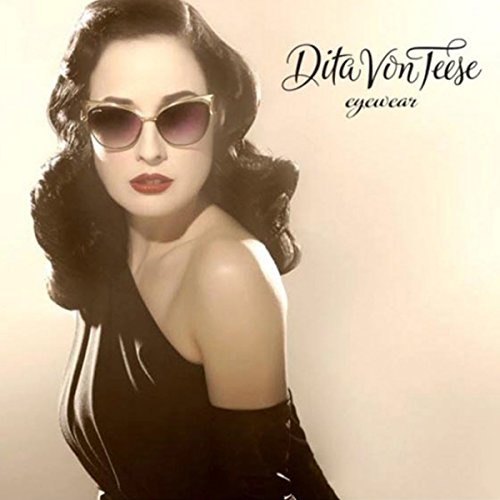 a6ff1332f48 Dita Von Teese Mirrored Gradient Sunglasses Women Brand Design Cat Eye  Metal Frame Glasses (coffee