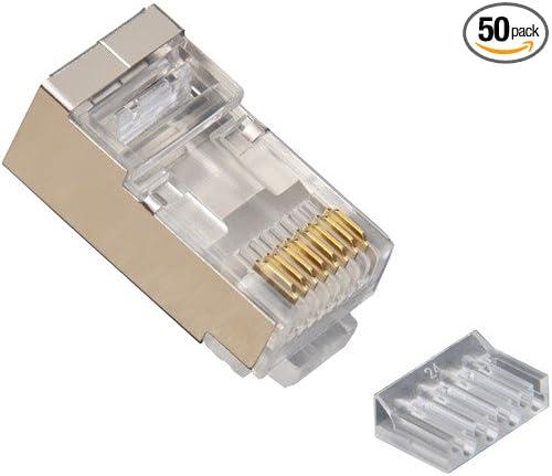 20pcs EZ RJ45 Connector Cat5e Network Connector 8P8C Cat5 Shielded Modular