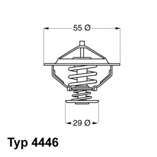 Wahler 4446.83D Refrigerantes Del Motor 95201089