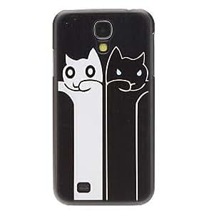 CL - Moda Diseñado Blanco y Negro Patrón Protevtive caso trasero Cat para Samsung i9500 Galaxy S4