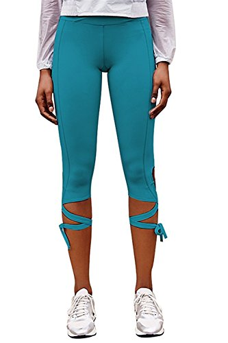 Davikey comfortable Women's Casual Self-tie Workout Leggings Yoga Capris Sport Pants S - Macy's Court