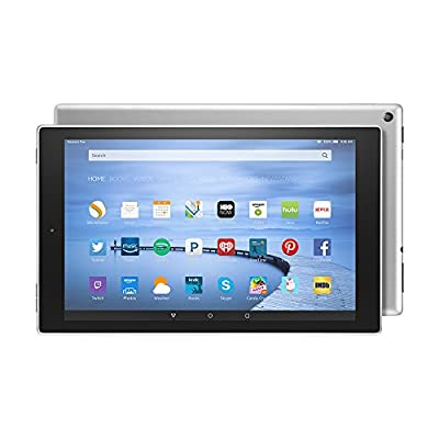 """Certified Refurbished Fire HD 10 Tablet, 10.1"""" HD Display, Wi-Fi, 16 GB - Includes Special Offers, Silver Aluminum"""