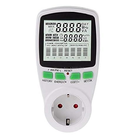ac power meters 220v digital wattmeter eu energy meter watt monitor