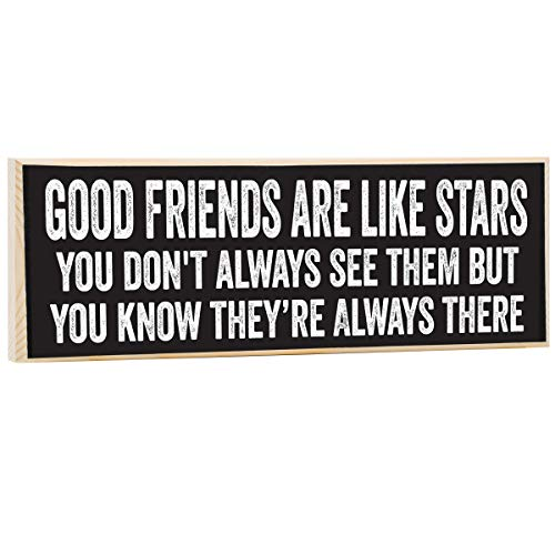 Make Em Laugh Good Friends are Like Stars Wooden Sign