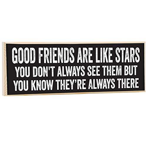 Make Em Laugh Good Friends are Like Stars Wooden Sign (Sign Friend Good)