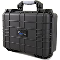 CASEMATIX Waterproof Projector Travel Case For DBPOWER T22 HD Video Projector 2400 Lumens , Remote , HDMI Cable , AV Cable , Power Supply and Accessories