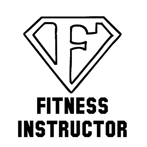 ShirtMania FITNESS INSTRUCTOR Career Occupation Car Laptop Wall Sticker