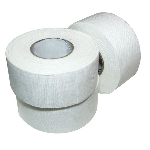 Ringside 1-inch Athletic Trainers Extra Strong Cotton Sports Tape (White, 15 Rolls)