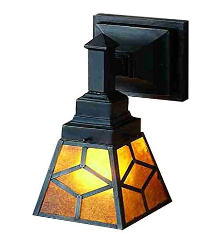 Mica Tiffany Sconce (Meyda Tiffany 27883 Amber Mica Diamond Mission Wall Sconce, 5