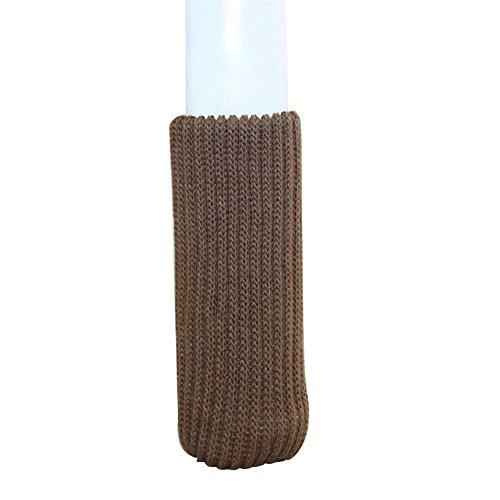 "16pcs Chair Leg Socks Elastic Wood Floor Furniture Chair Leg Feet Protectors Covers Caps Set Fit Girth 2"" to 7"" (Brown)"
