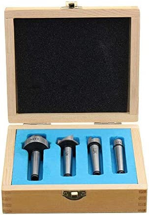 HYY-YY 4Pcs Mt1 Wood Lathe Live Center And Drive Spur Cup Mt1 Arbor With Wooden Case