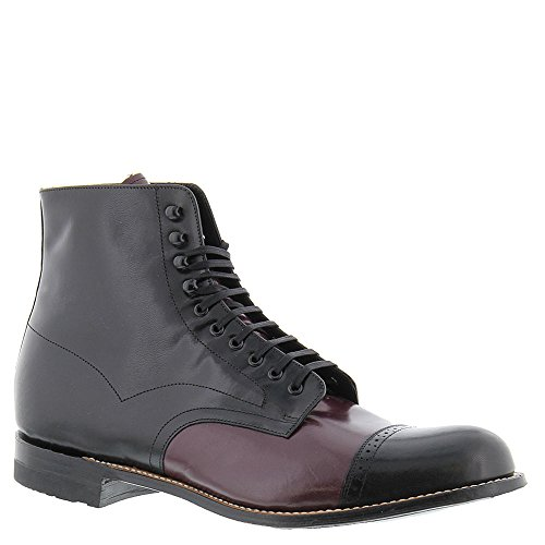 Stacy Adams Mens Madison Cap Toe Botte Noir-oxblood