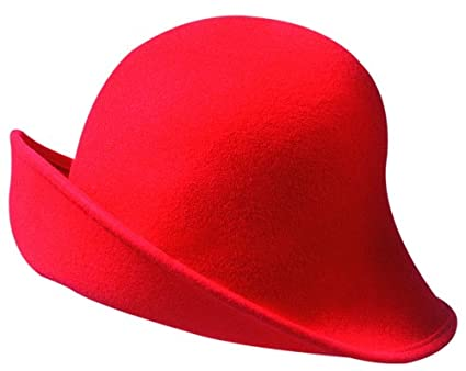 91152c4a SCALA Wool Felt 6 Fabulous Ways to Shape and Wear Cloche Hats (Red) at Amazon  Women's Clothing store: Bucket Hats