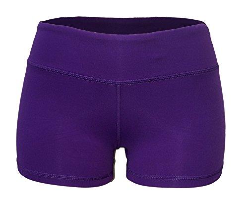 Yoga Shorts - Booty Shorts (Purple, Medium/8) -