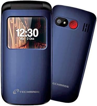 CELLULARE TECHMADE SENIOR FLIP BLUE: Amazon.es: Electrónica
