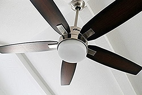 Amazon hunter windemere 54 in brushed nickel indoor downrod amazon hunter windemere 54 in brushed nickel indoor downrod mount ceiling fan with light kit and remote home kitchen aloadofball Image collections