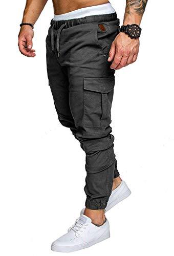 Socluer Homme Pantalons Casual Jeans Sport Jogging Slim Fit Militaire Cargo Montagne Baggy Pants Multi Poches Grande… 1