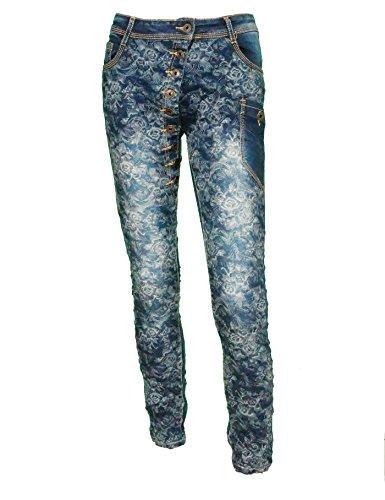 Onado - Vaqueros - Floral - para mujer Azul
