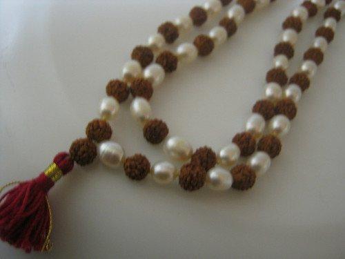 Rudraksha Rudraksh Pearl Moti Japa Mala Rosary 108 +1 Bead Yoga Hindu Meditation Raiki Pooja Puja Rare