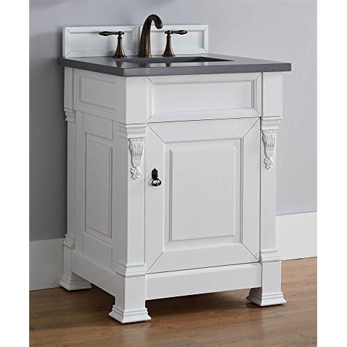 85%OFF Single Bathroom Vanity with Shadow Gray Quartz Top