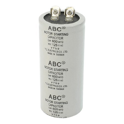 DealMux 600Mfd Capacity 125VAC Metallized Polypropylene Film Motor Capacitor ABC