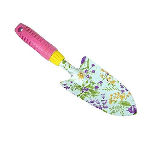 Garden Spring Floral Painted Trowel Spade Shovel Metal Head