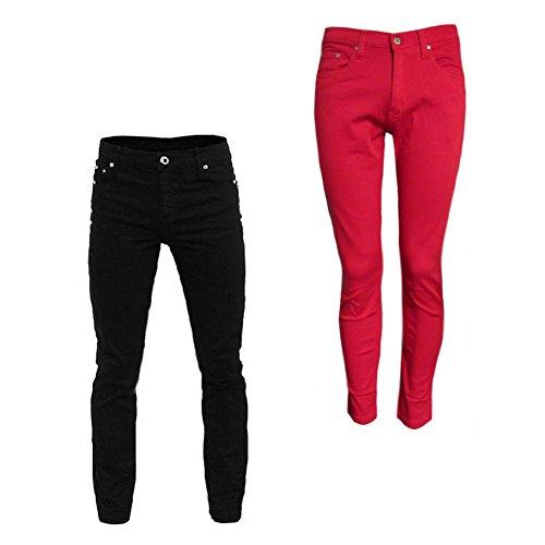 Skinny Jeans Relco Skinny Nero Relco Elasticizzati TCngq
